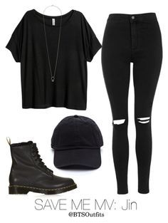 """""""Save Me MV: Jin"""" by btsoutfits ❤ liked on Polyvore featuring H&M and Topshop"""
