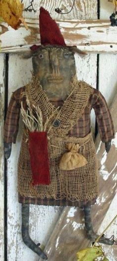 Mrs. Toombs - Primitive Witch Doll