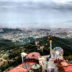 Views from Mount Tibidabo / Barcelona, Spain