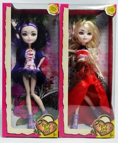 ever after high dolls   2014-hot-sell-Ever-After-High-dolls-Apple-White-Raven-Queen-2pcs-set ...