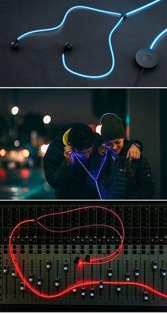 'Tron'-like Glow headphones ( http://www.engadget.com/2015/01/27/glow-headphones/ )