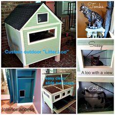 litter loo-custom litter box enclosure