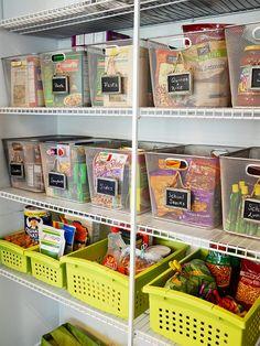 Como organizar a despensa ou o armário da cozinha - Casinha Arrumada
