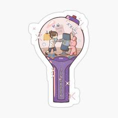 Pegatinas: Bts   Redbubble Stickers Kawaii, Pop Stickers, Printable Stickers, Bts Drawings, Kawaii Drawings, Theme Bts, Bts Army Bomb, Bts Wallpaper Lyrics, Korean Stickers