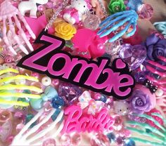 """Acrylic Hot Pink """"Zombie"""" Necklace  $16.00 £10.00"""