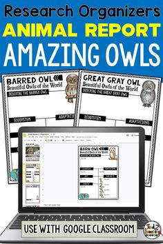 These digital OWLS of the world research organizers are the perfect tool to help your students organize their research for their project or report. Each digital owl research organizer helps students organize a variety of information about their chosen owl including its ecosystem, habitat, a description, its diet, fun facts and more. Perfect for use with Google Classroom, each of these digital research organizers also comes with a page for students to write a short research report.