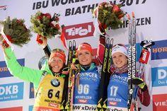 Gabriela Koukalova wins WC febr.10.2017 in Hochfilzen.