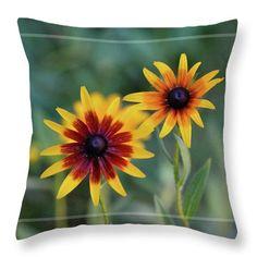 Black Eyed Susan throw pillow available through Fine Art America by Sandra Huston