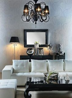 Love black and white livingrooms