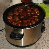 Meatballs with Currant Jelly and Mustard Sauce (Funeral Sandwich Recipes)
