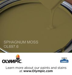 SPHAGNUM MOSS OL697.6 is a part of the greens collection by Olympic® Paint.