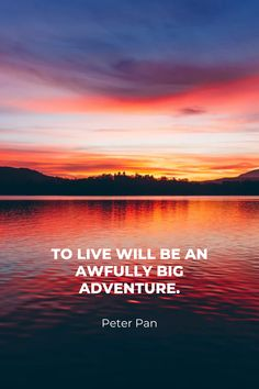 Inspirational travel quote and phone background wallpaper of sunset at the lake. Follow Cuddlynest to plan your trip with ease.