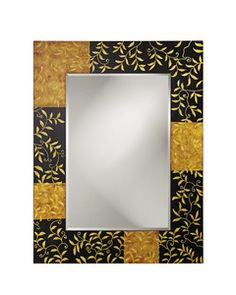 Willshire Wall Mirror in Black & Maize