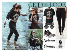"""""""Selena Gomez On Instagram May.17.2016"""" by valenlss ❤ liked on Polyvore featuring Illesteva, adidas and CO"""