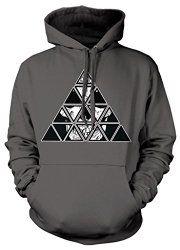 All Seeing Eye Skull Pyramid Sweatshirt Hoodie Hoody   Gothic Dress Code