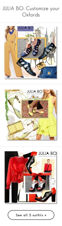 """""""JULIA BO: Customize your Oxfords"""" by andrea2andare ❤ liked on Polyvore featuring Hermès, BCBGMAXAZRIA, Dot & Bo, Baggallini, Leather, Shoe, oxfordshoes, juliabo, Adelyn Rae and Yves Saint Laurent"""