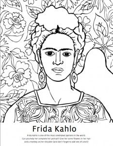 Frida Kahlo Coloring Page Fresh Diego Rivera Coloring Pages & Frida Kahlo Coloring Pages Women In History, Art History, Colouring Pages, Coloring Books, Coloring Sheets, Adult Coloring, Documents D'art, Art Espagnole, Art Handouts