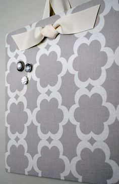 Cookie sheet + fabric = magnetic board. Love this! need to do this for pantry! Plenty of fabric lying around!