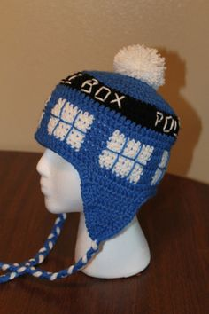 LOL my husband pinned this so I'm guessing I have to make one by winter... wonder if he really wants the pom-pom on top? Dr Who Hat!