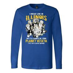 Super Saiyan ILLINOIS Group Long Sleeve T shirt - TL00064LS
