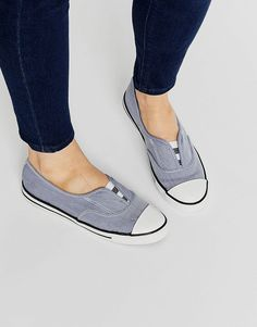 Converse All Star Chambray Blue Cove Plimsoll Trainers