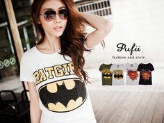 CliPick 的帕妃 的0411春 女孩愛英雄 蝙蝠俠/ SUPERGIRL美式棉質T恤 現+預 說好的蝙蝠俠:http://www.clipick.com/item?sid=109181