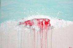 "Saatchi Art Artist kefu hu; Painting, ""Sea No.5"" #art"