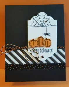 Spooky Classic Striped Halloween by zipperc98 - Cards and Paper Crafts at Splitcoaststampers