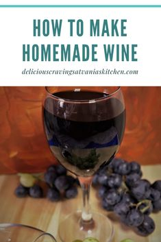 This is the perfect season to make homemade grape wine out of the juicy beauties Grape Wine Recipes Homemade, Homemade Alcohol, Homemade Liquor, Red Grape Wine Recipe, Making Wine From Grapes, Making Wine At Home, Wine Making, Sweet Red Wines, Sweet Wine