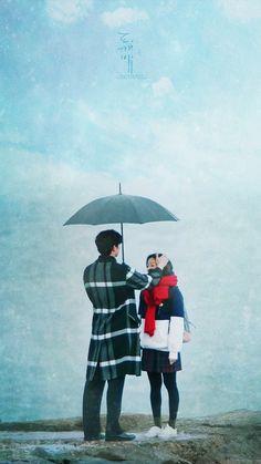 Goblin-Gong Yoo x Kim Go-eun_Korean Drama_id-Subtitle Korean Drama Quotes, Korean Drama Movies, Cute Couple Art, Anime Love Couple, L Kpop, Goblin The Lonely And Great God, Korea Wallpaper, Wallpaper Desktop, Goblin Korean Drama