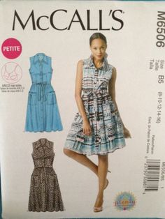 McCall's Pattern M6506 Misses' Collared Dress sizes 8-16