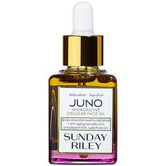 Shop Sunday Riley's Juno Hydroactive Cellular Face Oil at Sephora. It brightens the look of skin and reduce the appearance of wrinkles, redness, and pores.