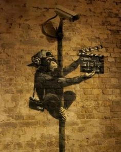security camera street art Banksy  Xeoma Video Surveillance software http://xeoma.com