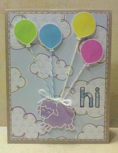 welcome baby card .