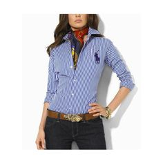Discount Ralph Lauren Polo Women Shirts for the Working women via Polyvore