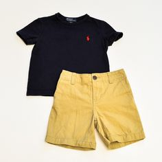 Baby Boy 18-24 mos. Shirt and Shorts- Gently Used- Ralph Lauren with Chaps- Click to see the whole lot!