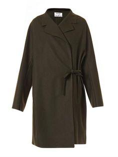 Ember raw-edge wool coat | Acne Studios | MATCHESFASHION.COM