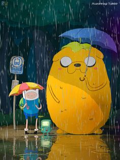 Adventure Time / My Neighbor Totoro mash-up