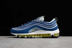 edcb4701d61 Best Price Mens Nike Air Max 97 Atlantic Blue Metallic Silver White Voltage  Yellow 921826-