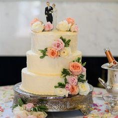 Simple Ivory Buttercream Cake