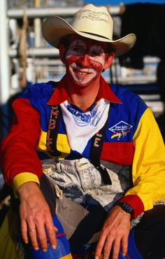 Outback (North West): The bullfighting clown is one of the characters at the annual Mount Isa rodeo, held in August each year - Mount Isa, Queensland Clown Photos, Cowboy And Cowgirl, Cowgirls, Clowns, Rodeo, North West, Cowboys, College, Characters