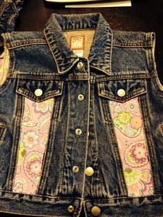 Jean vest with added fabric