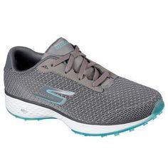 Drive and putt in advanced comfort and style with these Skechers GO GOLF Eagle - Range golf shoes. Advanced GOwalk series inspires comfort with sporty styling in a spikeless lightweight golf shoe. Golf Membership, Spikeless Golf Shoes, Classic Golf, Sore Feet, Beautiful Shoes, Skechers, Blue Grey, Eagle