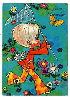 Vintage post card 70s.