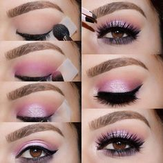 Pannnk Pictorial  @toofaced Chocolate Bon Bons palette So Fetch, Cotton candy, Almond truffle & Satin sheets  1️⃣ Almond truffle to the crease using a large fluffy brush 2️⃣ start applying Totally fetch tightly to the crease using a smaller blending brush Blend into the inner & outer part of the lid  3️⃣ Apply Cotton Candy to the center of the lid to take your time packing the shade on 4️⃣ Apply your winged liner using  @tartecosmetics Tartiest liner  apply Black currant to ...