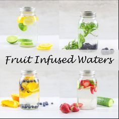 Infused Water Recipes 91628 Easily make your own homemade fruit flavored waters with these 4 delicious combinations of fruits. These simple fruit infused water recipes will make drinking your daily water quota a pleasure instead of a chore. Fruit Flavored Waters, Flavored Water Recipes, Sugar Detox Recipes, Fruit Infused Water, Fruit Drinks, Infused Waters, Fruit In Water Recipes, Water Infusion Recipes, Juicer Recipes