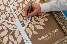 Wedding Guest Book Alternative  The Wishwik Tree  A by peachwik, $38.00