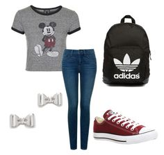 """""""Untitled #18"""" by embozant on Polyvore featuring Topshop, NYDJ, Converse, adidas Originals and Marc by Marc Jacobs"""