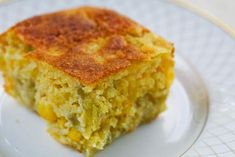 A little Green Chil Cornbread to go with your chili!!