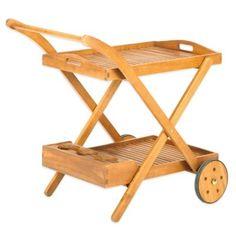 Westerly Acacia Wood Beverage Cart - BedBathandBeyond.com